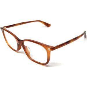 Gucci Women's Light Havana Square Eyeglasses!
